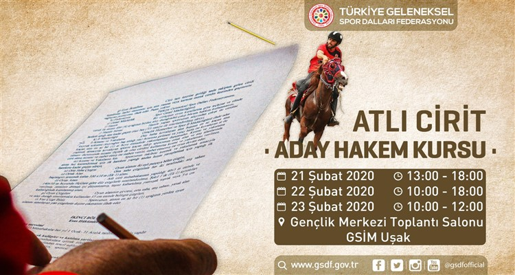 ATLI CİRİT ADAY HAKEM KURSU 21-23 ŞUBAT 2020