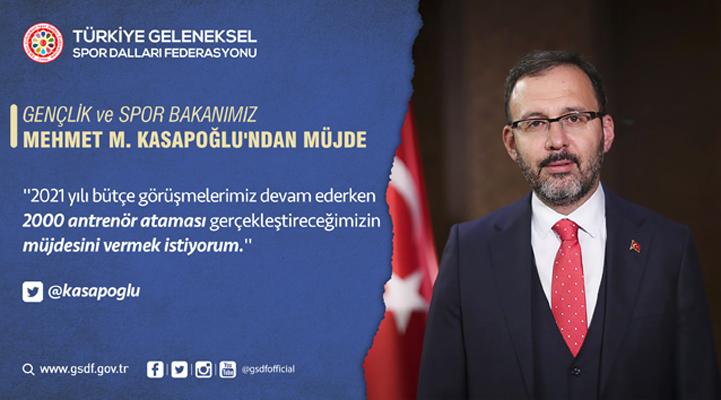 Gençlik ve Spor Bakanımız Mehmet M. Kasapoğlu'ndan Müjde