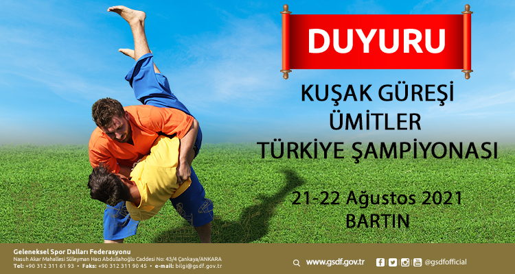 Kuşak Güreşi Ümitler Türkiye Şampiyonası 21-22 Ağustos 2021 / BARTIN