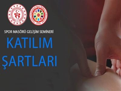 SPOR MASÖRÜ GELİŞİM SEMİNERİ  / 26-28 KASIM 2019